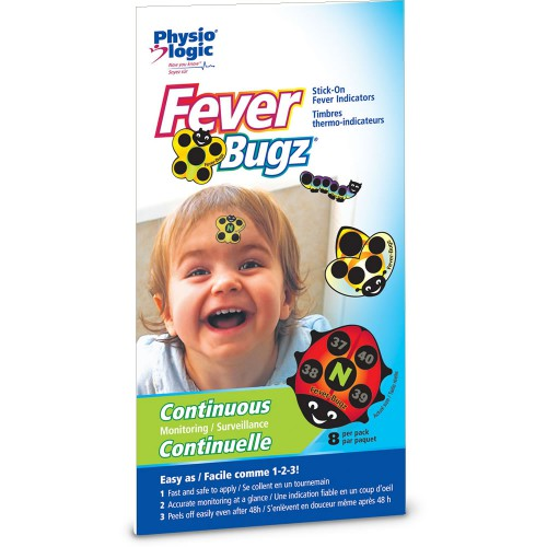 Fever-Bugz® Stick-On Fever Indicators - Celsius