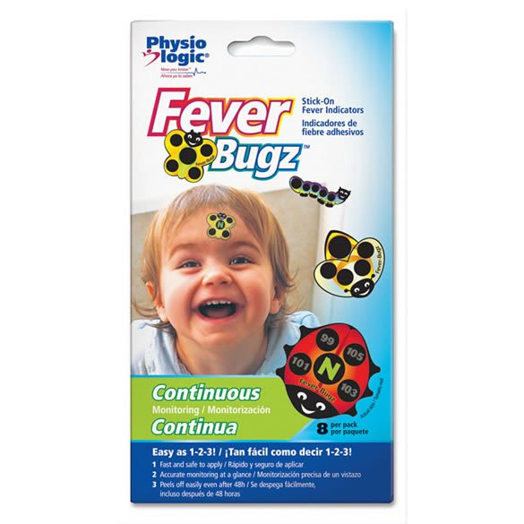 Fever-Bugz® Stick-On Fever Indicators - Fahrenheit